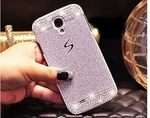 Coque Samsung Galaxy S6 Edge, Extreme Deluxe Bling Etui Housse téléphone couverture de diamant main Crystal Clear Rhinestone de protection de peau Case Cover pour Samsung Galaxy S6 Edge - Sliver