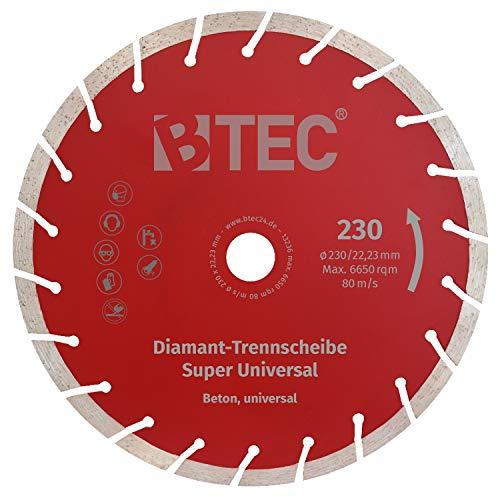 Diamanttrennscheibe 230x22,2 mm für Beton, Mauerwerk, Ziegel uvm. Diamant Trennscheibe 230 mm universal