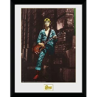 GB eye LTD, David Bowie, Street, Framed Print, 30 x 40cm, Wood, Multi-Colour, 52 x 44 x 3 cm