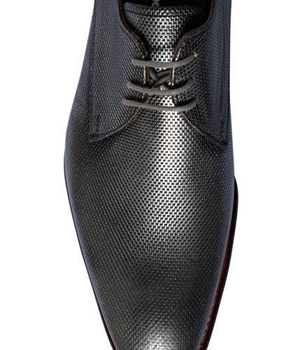 Floris van Bommel Homme Chaussures à lacets-cuir lisse-Motif multicolore 02 silver print