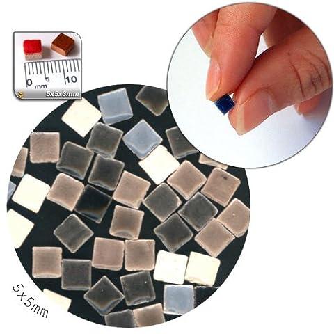 Mosaic-Minis (5x5x3mm), 250 pieces, mix White / black / gray, MXNB