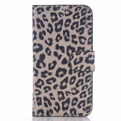 Samsung Galaxy S6 Case,leopard - Spot Lederetui Stehen Fall Schwarz Hardcover Für Samsung S6 ( Color : 1 , Size : Samsung S6 ) 3