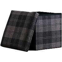 Preisvergleich für Lagerung Hocker LXF Lagerung Ottoman Spielzeug Aufbewahrungsbox Fußhocker Sofa Hocker Platzsparend 30 * 30 * 30cm (Farbe : Style 2)