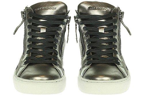 Crime London 25380A16B - Espadrilles Chaussures Pour Femmes à lacets Beige Or