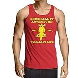 N4689V Camiseta sin mangas We Call it Life! Motorcycle Clothing (X-Large Rojo Multicolor)