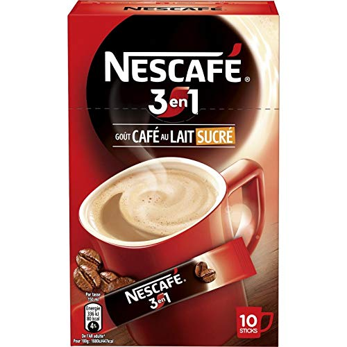 Nescafé - Cappuccino Three In One 170G - Lot De 5 - Livraison Rapide En France - Prix Par Lot