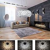 Hengda® 12W LED Pendelleuchte Modern Acryl Kreative Kronleuchter Weiß und Warmweiß Stilvolle Kristall Hängelampe für Wohnzimmer,Esszimmer [Energieklasse A++]