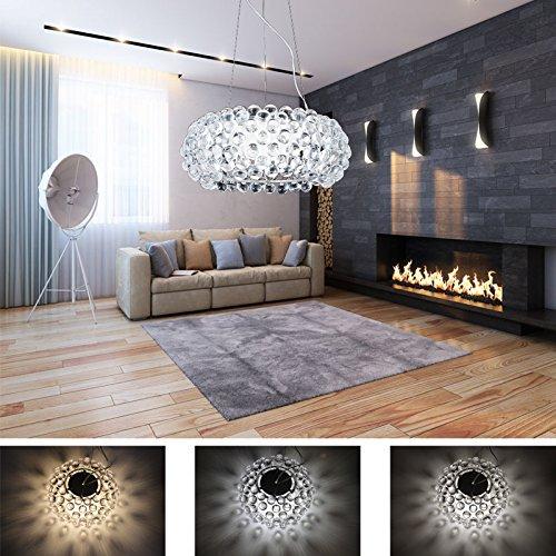 Hengda® 12W LED Pendelleuchte Modern Acryl Kreative Kronleuchter Weiß Und  Warmweiß Stilvolle Kristall Hängelampe Für Wohnzimmer,Esszimmer  [Energieklasse A ...