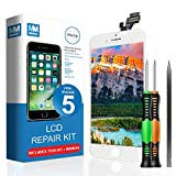 MMOBIEL LCD Display Touchscreen Digitizer Ersatz kompatibel mit iPhone 5 (Weiß) Reparatur Set mit Anleitung