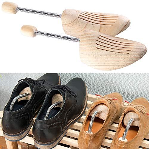 infactory Schuhe weiten: 1 Paar Schuhspanner aus Kiefernholz, mit Spiral-Feder, Größe 44/45 (Schuhdehner)