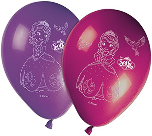 Generique - 8 Luftballons Sofia die Erste (Die Sofia Erste-ballon)
