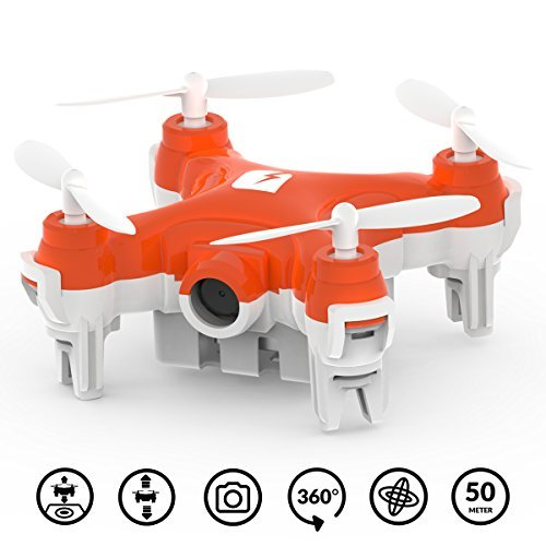 Preisvergleich Produktbild SKEYE Nano 2 FPV Drohne mit HD-Kamera – Kleinster Quadrocopter der Welt – WLAN oder Joystick-Steuerung mit iOS / Android – RTF-Technologie