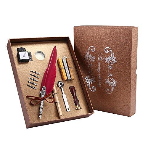 Pawaca - Juego de bolígrafos de Tinta de Punta de Plumas Estilo...