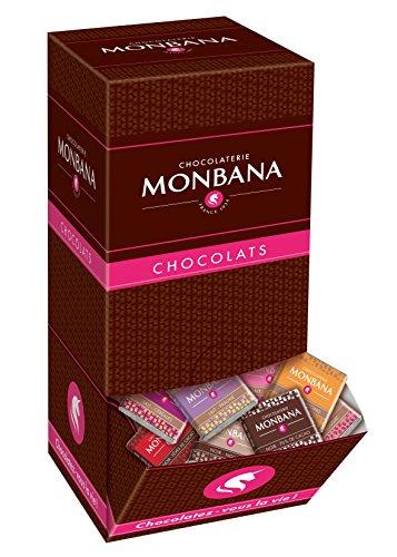 Coffret degustation 200 carrés de chocolat excellence Monbana