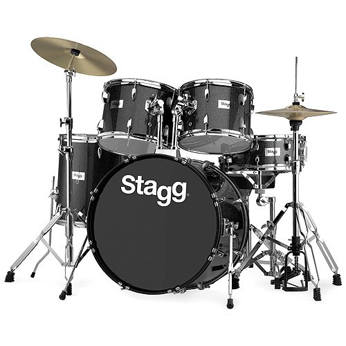 stagg-25020717-tim322b-drum-set-5588-cm-22-zoll-5-stuck-inkl-hardware-mit-cymbal-throne-schwarz