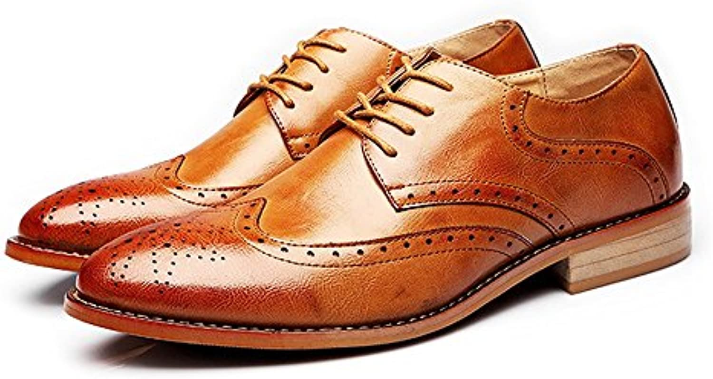 Xujw shoes  2018 Schuhe herren  Herren Business Brogue Schuhe Matte Breathable Wingtip Hohl Carving Echtes Leder