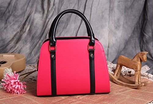 m.g.d donne Vintage NUOVA Lady Borse Hobo Bag borsa con fiocco in pelle borsa a tracolla Messenger Bag rose red