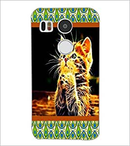 PrintDhaba Digital Kitty D-6045 Back Case Cover for LG NEXUS 5X (Multi-Coloured)