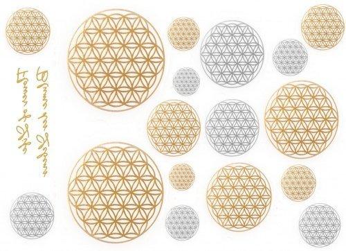 Metall Tattoos Blume des Lebens - Tattoo