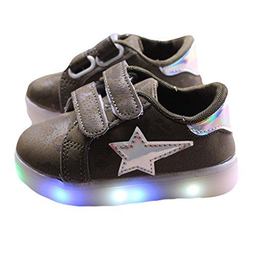TAIYCYXGAN Kinderschuhe Jungen Mädchen bunte LED-Leuchten Schuhe SportSchuhe Grün