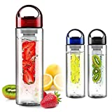 Flyngo Fruit Infused Clear Water Bottle 800 ML with Carry Handle for Yoga
