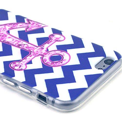 Etche TPU Housse pour iPhone 6/6S 4.7 pouces,Étui Coque Housse Pour iPhone 6/6S 4.7 pouces,coloré imprimé couvercle du boîtier de caoutchouc de silicone pour iPhone 6/6S 4.7 pouces + 1x Bleu style + 1 Pattern #3