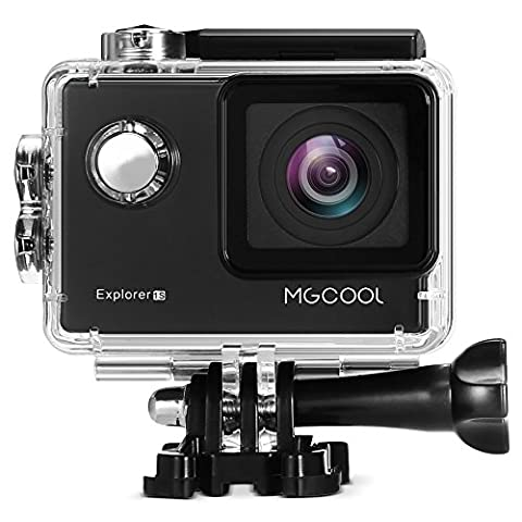MGCOOL Explorer 1S Action Sport Camera 30M Waterproof 2.0 Inch Screen 170 Degree Wide Angle Wifi Connection for Video/Audio Recording, Photo Shooting,Video Display (Black)