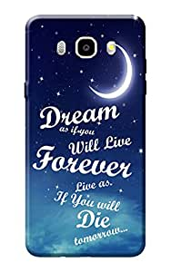 Kanvas Cases Premium Quality Designer Printed 3D Lightweight Slim Matte Finish Hard Case Back Cover for Samsung Galaxy On8 + Free Mobile Viewing Stand