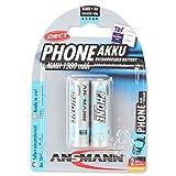 Ansmann LR06 NiMH 2x AA (1300mAh) Batteries rechargeable pour téléphones sans fils DECT