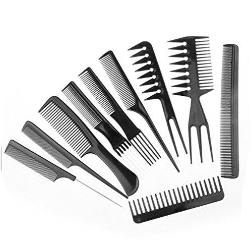 HENGSONG 10 stks/set Profi Hair Styling Kämme Friseur Zubehör Geräte Set