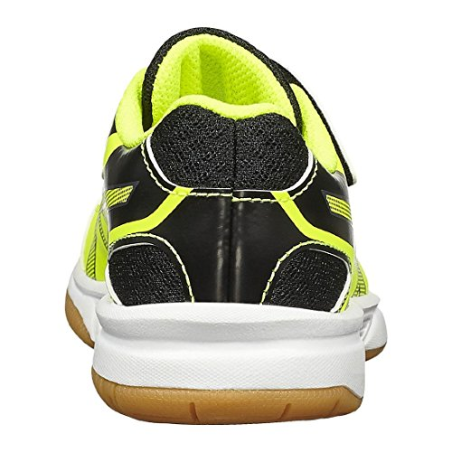 Asics Upcourt 2 Ps, Chaussures de Gymnastique Mixte Enfant 0795 SAFETY YELLOW/DARK GREY/B