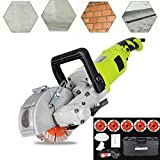 4000W Electric Wall Chaser, with 5 125mm Saw Blade Groove Cutting Machine Cutter Wall Chaser Saw Slotter