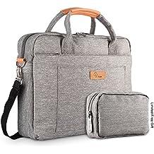 Hombres y Mujeres 15-15.6 Pulgadas Bolsa de ordenador portátil Mensajero Viajes de Negocios Tableta del Bandolera maletín hombro para Chromebook / Macbook / ultrabook etc