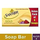 #5: Santoor Gold Soap, 125g (Pack of 6)