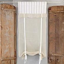 visillo para ventana cortina corta de ventana vintage rstico shabby chic volantes rayado