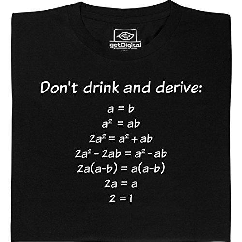 Drink and Derive - Geek Shirt für Computerfreaks aus fair gehandelter Bio-Baumwolle