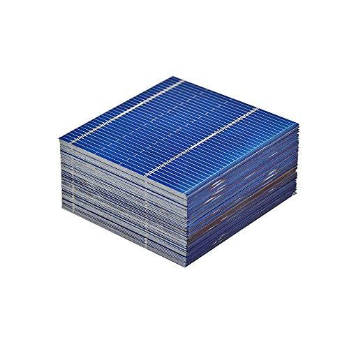 AIYIMA 100Micro Solar Zellen 0,5V 0,46W Polykristallines Silizium Solarzellen DIY Handy Ladekabel Akku 52x 52mm