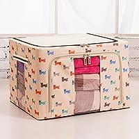 Hoobor House vestiti nel bauletto portaoggetti in acciaio dello scomparto di stoccaggio detriti ammettere, telaio66L,Coffee-Colored