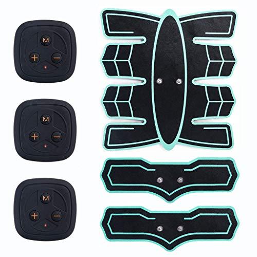 CAI Cushions Muscle Trainer Bauchmassagegerät, Elektrostimulator für den Bauch Ems Abdominaltrainer mit drahtlosem elektronischem Fitness-Massagegerät-Set für den Bauch, Arm, Bein, Männer und Frauen