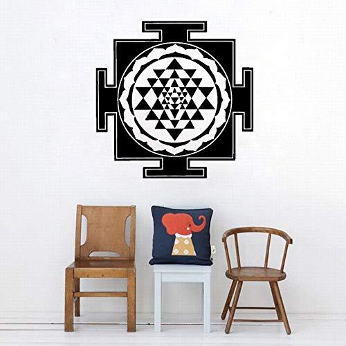 zqyjhkou Geometría Caliente Estilo de Sri Yantra Pegatinas de pared sagrados Moda Diseño Moderno Patrón Tatuajes de pared Habitación de Niños Sala de estar Arte Decorsyy847 57x57cm