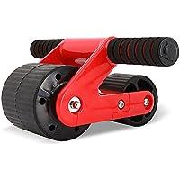 OMZBM Diseño De Triángulo Ultraplano Doble AB Carver Pro Roller AB Roller Wheel para Fortalecer Los Abdominales Y El Ejercicio Básico De Tono, Rebote Automático,Red