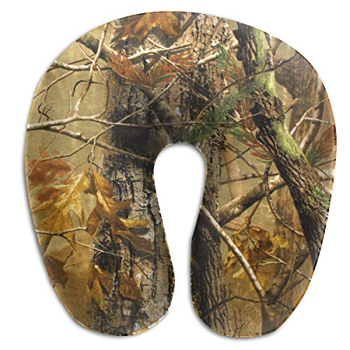 Hunting Camo U-Shaped Pillow Get Wrapped in Extreme Comfort with The Comfort Master Reisekissen und Nackenkissen Memory Foam Pillow Provides Relief and Support for Travel Office Home Neck Pain -