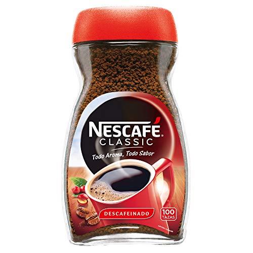 NESCAFÉ Café Classic Café Soluble Descafeinado  Bote de cristal   Paquete de 200g de café
