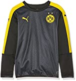 PUMA Kinder Sweatshirt BVB Cup Stadium Sweat, Black-Cyber Yellow, 152