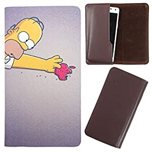 DooDa - For iBall Andi 5.5 N2 Quadro PU Leather Designer Fashionable Fancy Case Cover Pouch With Smooth Inner Velvet