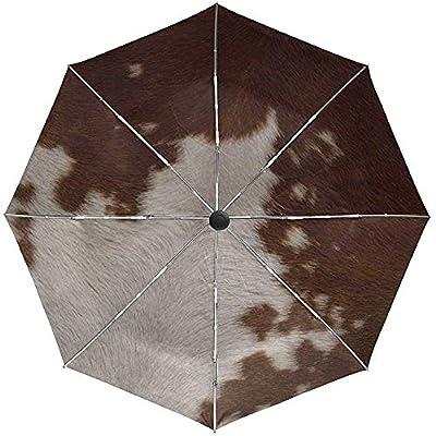 Paraguas automático Piel de Lana Suave Manchado Viaje Conveniente A Prueba de Viento Impermeable Plegable Automático Abrir Cerrar