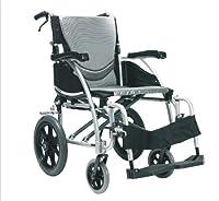 Karma Ergo 115 Ultra Lightweight Aluminium Transit Wheelchair In Silver.