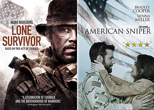 f Courage: Lone Survivor & American Sniper Double Feature 2-DVD Movie Bundle ()