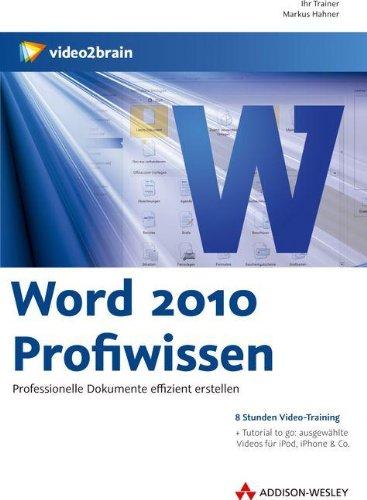 Preisvergleich Produktbild Word 2010 Profiwissen - Videotraining
