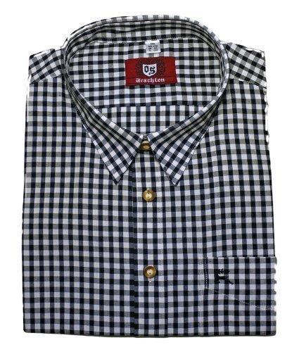 Kentkragenhemd weiß-schwarz XL